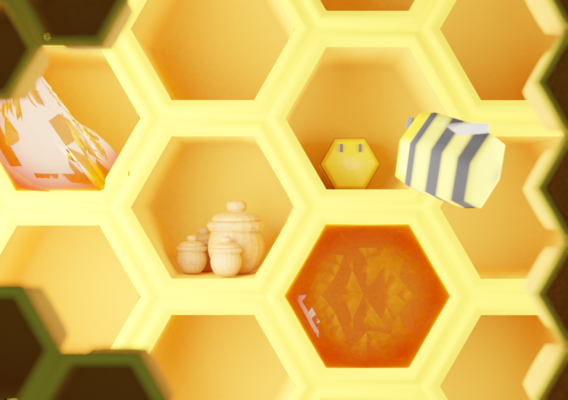 Low poly bees