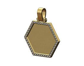 Hexagonal diamond memory picture 3D printable model