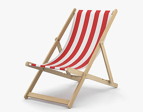 3D model beach Deck Chair