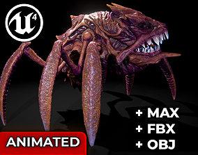 3D model animated Alien Crab Monster