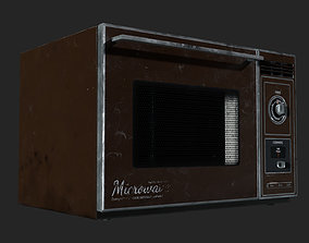 3D asset game-ready Vintage Microwave 1982
