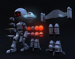 3D asset Full Rigged Robot