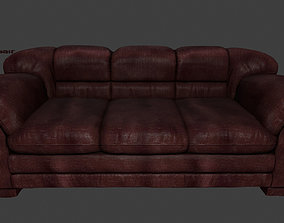 3D model low-poly couch Armchair