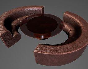 Modern Luxurious Sofa set 3D asset