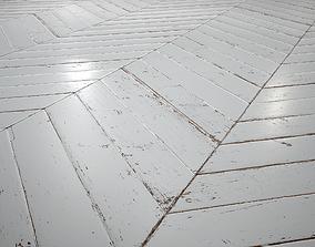 3D model White Painted chevron parquet - PBR textures