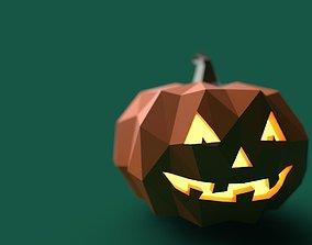 3D model Pumpkin low poly PBR game ready