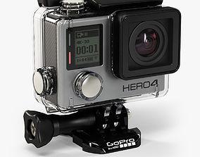 GoPro HERO4 Black Edition with Waterproof Housing 3D model