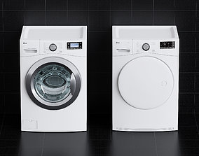 bathroom 3D model Washing Machine - Dryer - Laundry