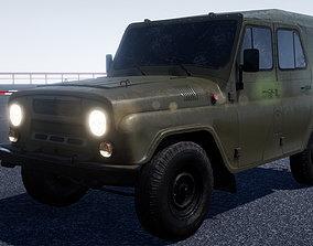 3D asset UAZ Hunter military vehicle