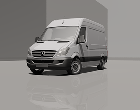 3D model Mercedes-Benz Sprinter L2H2 Van 2010