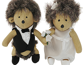 Wedding hedgehog 3D model