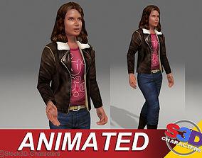 Monica-teen Animated 3D asset