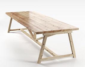 Wooden Dining Table 3D model design