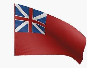 British Red Naval Ensign 1707-1801 3D model