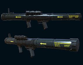 low-poly Mk153 SWAM Anti-Tank Rocket Launcher Gaming Model