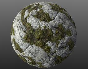 Mossy Rock 002 PBR Material 3D