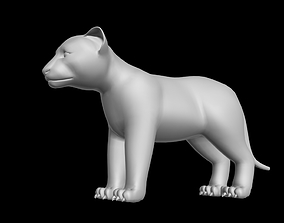 low-poly LION CUB RIGGED 3DS MAX