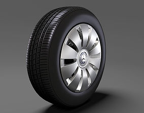 Mercedes Benz Citan Van wheel 2017 3D model