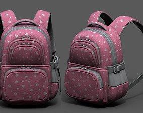VR / AR ready Backpack Color 3d bag baggage pockets