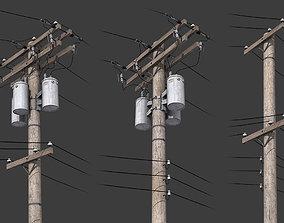 3D model Telegraph Pole