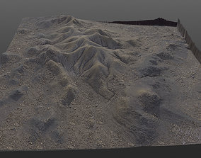 natural Sandy Terrain 8K PBR 3D