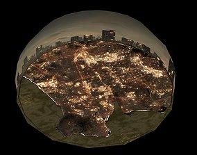 Los Angeles 2049 Blade Runner Style World Map - 3D asset 2