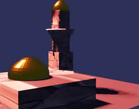 3D animated Arab Mosque