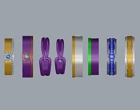 ring jewelry wedding ring Korean jewelry 3D print model