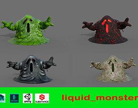 Liquid monster 3D asset