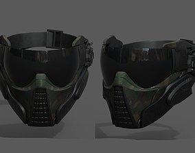 Scifi mask helmet futuristic technology space 3D model