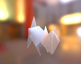 Realistic 3d Model of a paper Origami CAT No game-ready 1