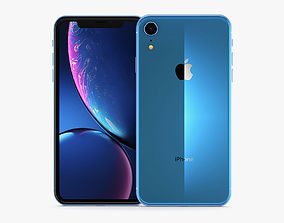 3D Apple iPhone XR Blue