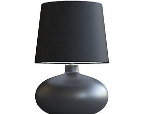 3D model Black Table Lamp round