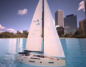 Hanse 675 yacht 3D model