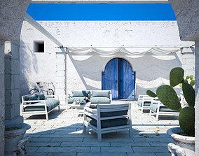 3D model Mediterranean Courtyard