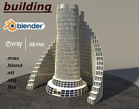 Multi purpose building 2 3D model office