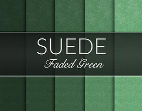 Faded Green Suede Fabrics Seamless Textures Set 3D model