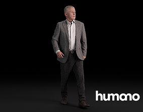 3D Humano Elegant Man Standing and walking 0415
