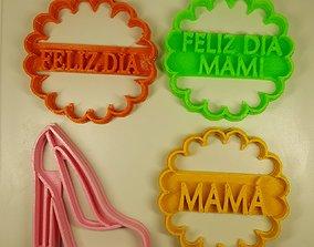8 Cutter cookie Mother Day 8 Cortantes dia de la madre 3D