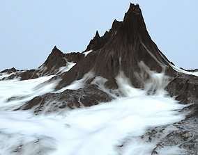 3D model game-ready snow mountain other