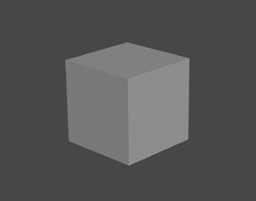 card Default Cube 3D model