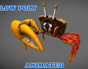animated Low Poly Crab 3D Model - Animated