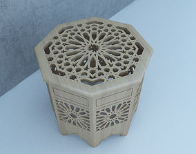 3D model design Traditional Moroccan Table