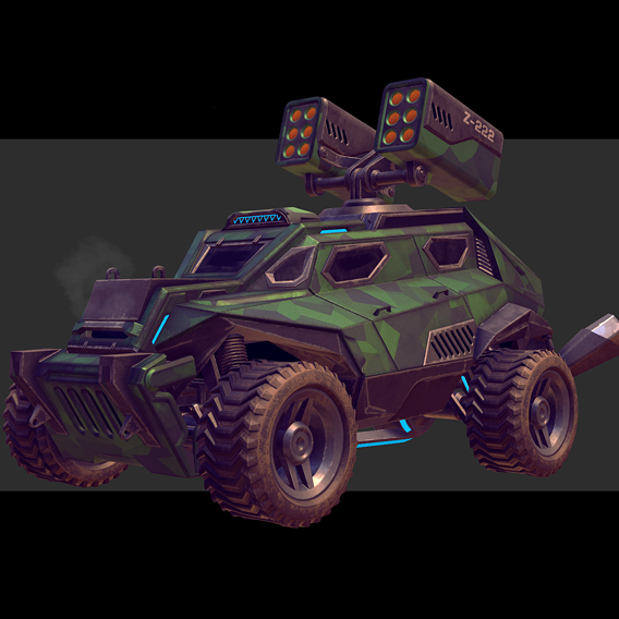 Sci-Fi Armored Military Vehicle