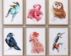 JUNIQE Birds framed 3D model