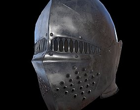 Knight helmet 3D model low-poly