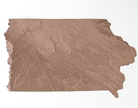 Iowa Relief Map 3D print model
