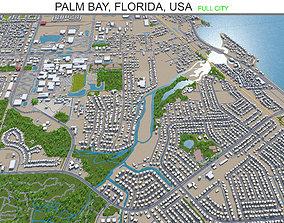 Palm Bay Florida USA 30km 3D model
