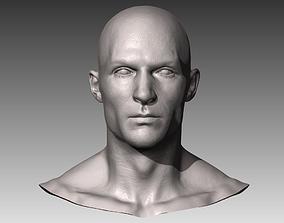 3D Realistic White Male Head