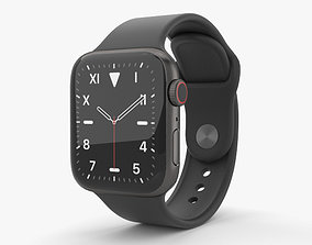 3D model Apple Watch Series 5 40mm Space Black Titanium 2